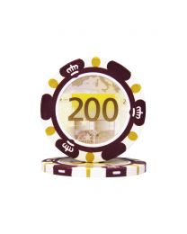 Poker chips Euro design €200