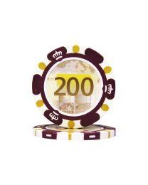Poker chips Euro design €200