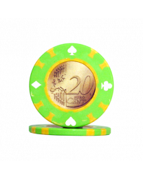 Poker chips 20 Euro cents