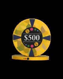 500 Dollar chips ceramic Mosaic