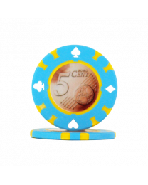 Poker chips 5 Euro cents