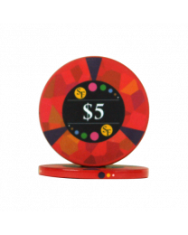 5 Dollar chips ceramic Mosaic