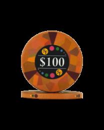 100 Dollar chips ceramic Mosaic