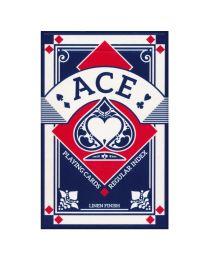 Ace Bridge Playing Cards Linen Finish Blue