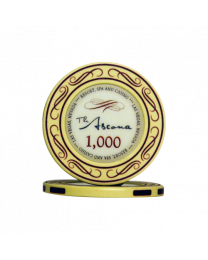 Ascona ceramic casino chips 1.000