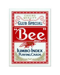 Bee Jumbo Index Playing Cards Red