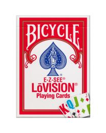 Bicycle E-Z-SEE LōVision Cards Red