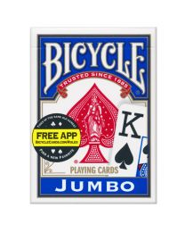 Bicycle Playing Cards Jumbo Index Blue