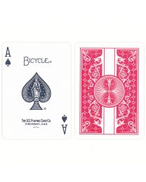 Bicycle plastic playing cards red