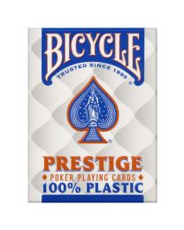 Bicycle Prestige 100% Plastic Playing Cards Blue