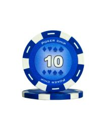 Blue color poker chips 10