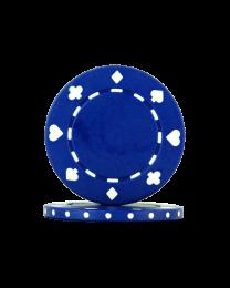 Poker chips Suit blue