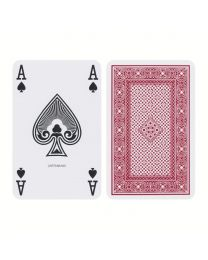 Ace Bridge Playing Cards Linen Finish Red