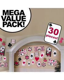 Casino Cutouts Cardstock Decorations