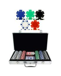 300 Dice chip poker set aluminum case