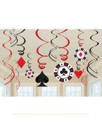 Casino Hanging Decorations Swirls