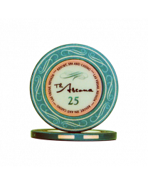 Ascona ceramic casino chips 25