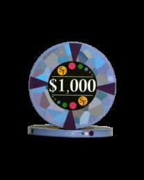 1000 Dollar chips ceramic Mosaic