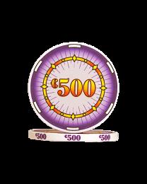 Ceramic poker chips classics €500