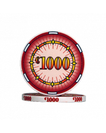 Ceramic poker chips classics €1000