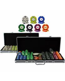 Color Cash 1,000 Plus Poker Chips Set