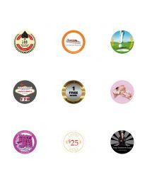 Custom Poker Chips Stickers Own Logo