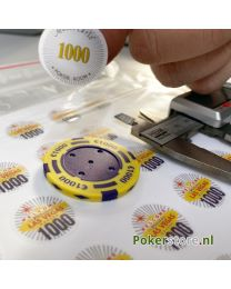 Custom stickers for poker chips
