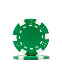 Poker chips Dice green