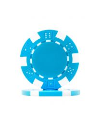Poker chips Dice light blue