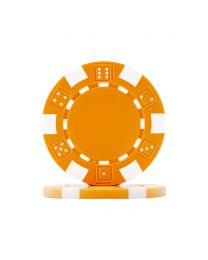 Poker chips Dice orange