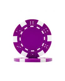 Poker chips Dice purple
