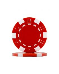 Poker chips Dice red