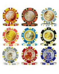 Euro design poker chips