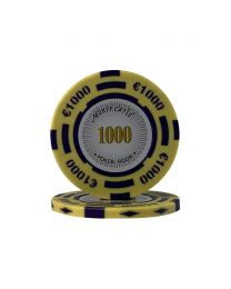 Euro poker chips Monte Carlo €1000
