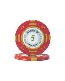 Euro poker chips Monte Carlo €5
