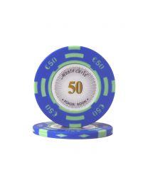 Euro poker chips Monte Carlo €50