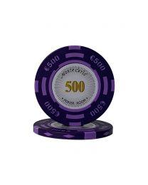 Euro poker chips Monte Carlo €500