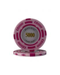 Euro poker chips Monte Carlo €5000