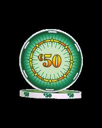 Ceramic poker chips classics €50