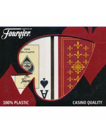 Fournier Flor de Lis Bridge Size Jumbo Index Playing Cards
