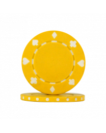Poker chips Suit yellow