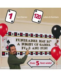 Giant personalized casino banner kit