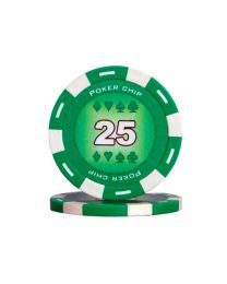 Green color poker chips 25