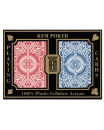 KEM poker cards arrow red and blue