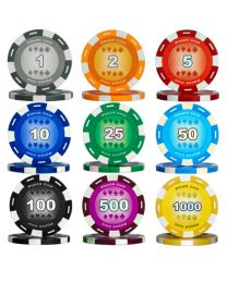 Poker set color chips 300
