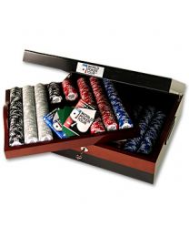 Luxury wooden poker set WPT