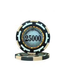 Macau Poker Chips Twenty Five Thousand