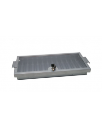 Metal dealer chip tray with cover