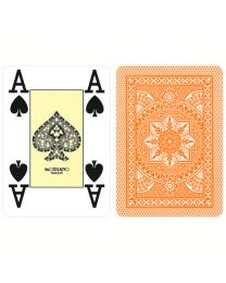 Orange playing cards Modiano