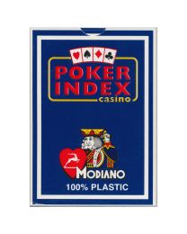 Poker Index Casino Playing Cards Modiano Blue